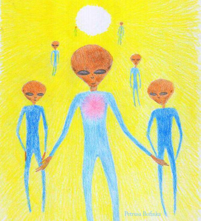 ET's in Blue Uniforms Visit