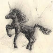 Darling picture of a little black unicorn
