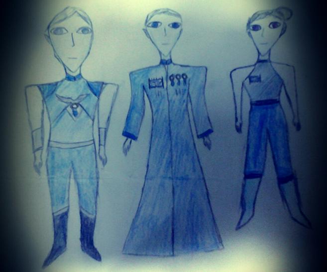 Kid Drawing of Alien Beings