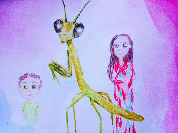 Mantis with Hybrid Children